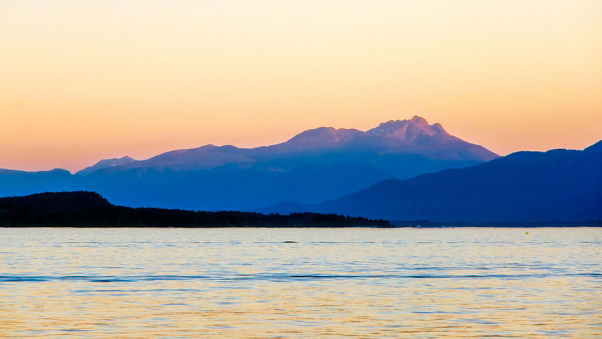 Early Morning on the West Coast Beauty In Nature Blue Cloud - Sky Day Idyllic Landscape Mountain Mountain Range Nature No People Outdoors Romantic Sky Salish Sea Scenics Sea Silence Sky Sunrise_Collection Sunset Tranquil Scene Tranquility Travel Destinations Water