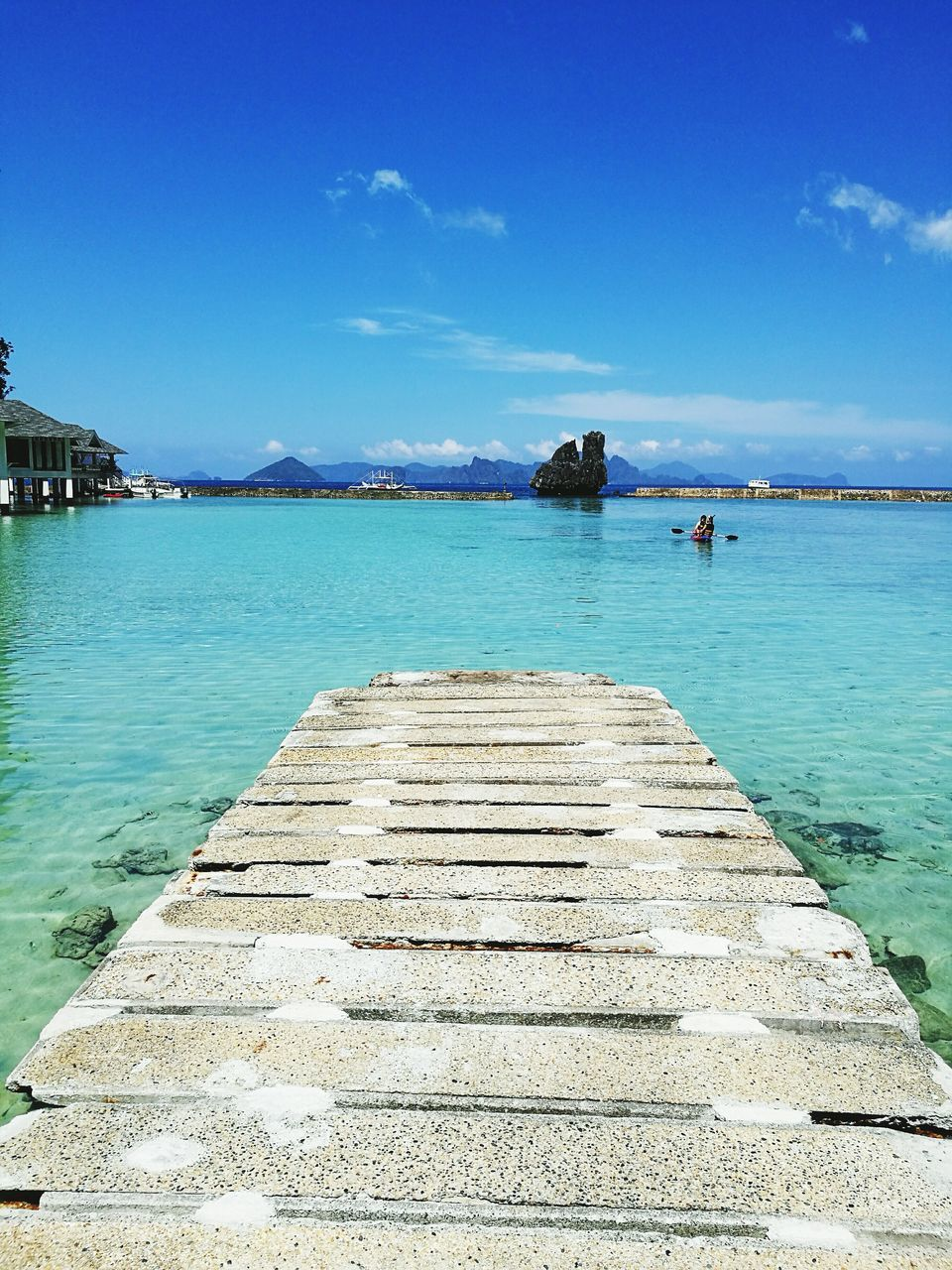 water, sea, sky, blue, nature, beauty in nature, scenics, tranquil scene, tranquility, outdoors, day, jetty, no people