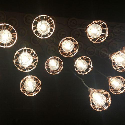 I love the ambience here. Lights Caffe Bene