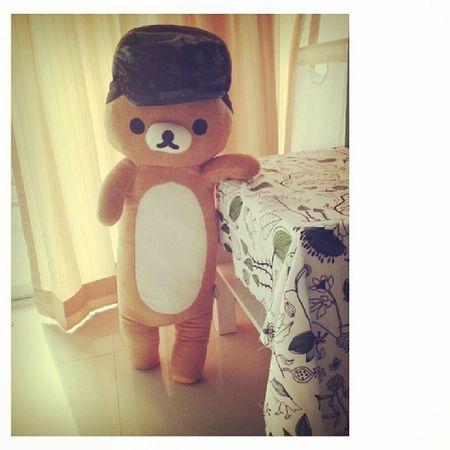 พี่จิ๊บโบะจะพาน้องมะไปเที่ยวชิป้ะ! 'ป๊าววว ฉันจะไปออฟฟิศ!' .... Kuma Bear Bangkok Holiday working saturday