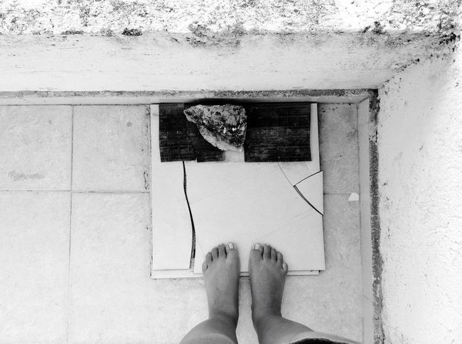 Broken... Low Section Human Leg Human Foot Personal Perspective One Person Real People Human Body Part Directly Above Standing Day Leisure Activity Barefoot Lifestyles Indoors  Women Close-up Adult People Adults Only Nails Broken EyeEmNewHere EyeEm Blackandwhite