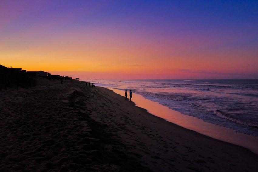 Summer Hues Walk Beach Dusk Night Ocean Outdoors Sand Sky Summer Sun Sunset