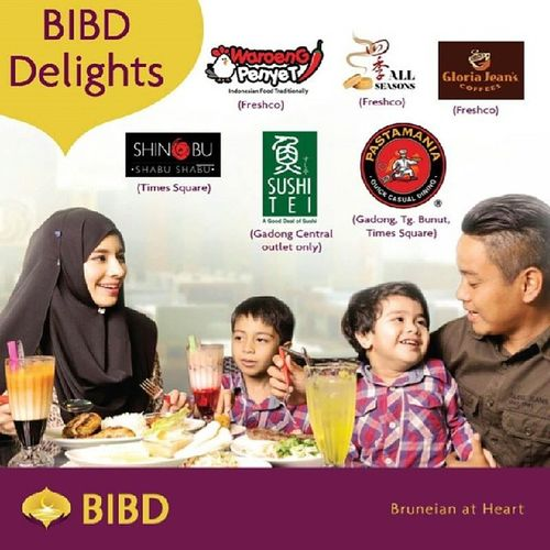 """By @bibdbrunei """"So what do you feel having today? Some Hotpot? Ayam Penyet? Salmon Sashimi? Roast Duck? Pasta? Or maybe just a good cup of Latte? Well, you have plenty of time to try them all because from 13 Jan to 28 Feb 2014, enjoy 15% discounts at all of the merchants above when you pay with your BIBD Cards or eTunai. Happy makan everyone! ? Bibd Bibddelights Brunei Sushitei waroengpenyet pastamania gloriajeanscoffees shinobusushi allseasons LoveFoodHateWaste AkuLapar"""""""