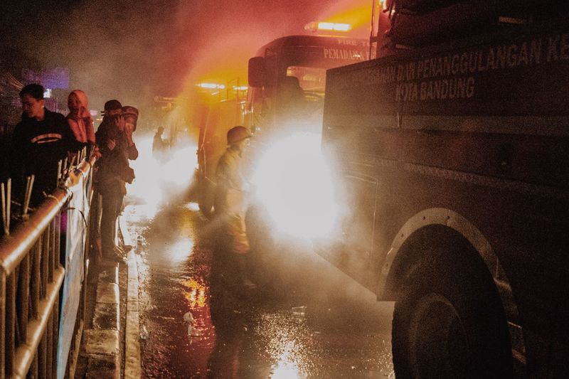 Firefighter Firefighter Group Of People Real People Crowd Large Group Of People Men Illuminated The Photojournalist - 2019 EyeEm Awards Street Leisure Activity