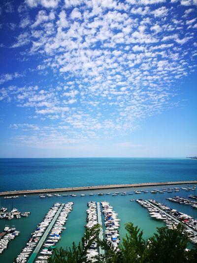 lovely place Water Sea Nautical Vessel Beach Blue City Tree Sky Horizon Over Water Yacht Seascape Marina Sailing Boat The Traveler - 2018 EyeEm Awards My Best Photo