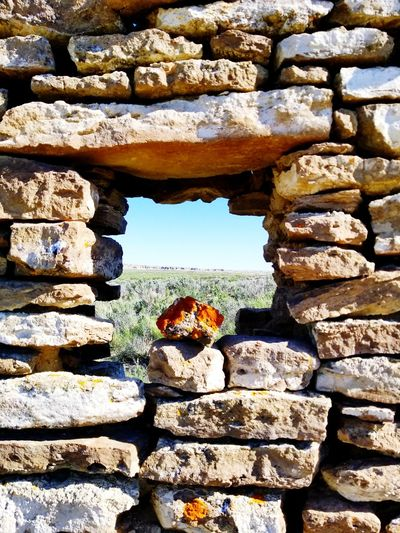 Window Wyoming Landscape Abandoned Places Ft. LaClede Military History Ruins Red Desert The Great Divide Rock - Object Sky Stone - Object Stone Wall