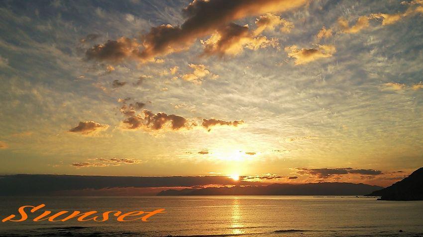 お仕事…終了~(^_^;)))!! Miyazaki Kushima 諏訪海岸 Fresh Air Sunset Enjoying Life Healing Yuka  夕凪 Pray For Kyushu