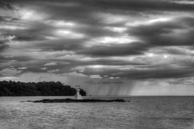 Architecture Beauty In Nature Black And White Cloud - Sky Day Nature Nautical Vessel No People Outdoors Rain Scenics Sea Sky Storm Cloud Thailand Thaland Tranquility Tree Water Waterfront Weather