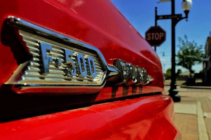 Standing On The Corner Eagles Winslow Flatbed Ford Red Close-up Outdoor Photography Shine Classic History