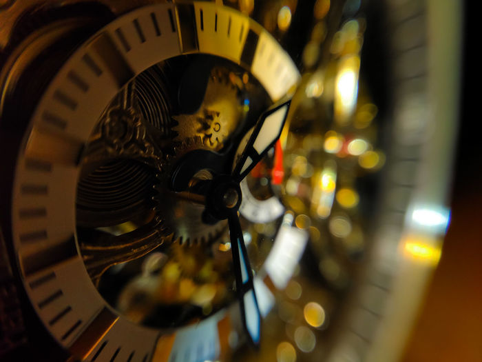 Close-up of watch