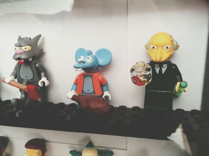 LEGO Lego Minifigures The Simpsons Lego Simpsons Mr. Burns Itchy Scratchy