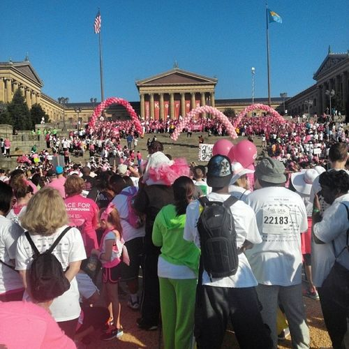 Still not right after yesterday, but the Lord wanted me to participate in this very important cause... BreastCancerWalk2014 5mileWalk Phillylove InstaImportant InstaGreat