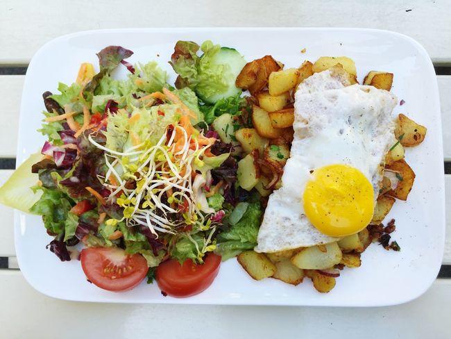 Lunch Salad Egg Potatoes Vegetarian