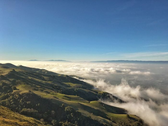Fog covered Landscape Nature Mountain Scenics Beauty In Nature Mountain Range Outdoors Sky No People Tranquility Tranquil Scene Day Power In Nature Morning hike to mission peak Fremont Neighborhood Map