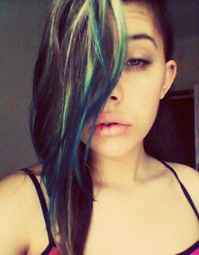 I woke up like this Blue Hair I WOKE UP LIKE THIS Busted Lip Shaved Head