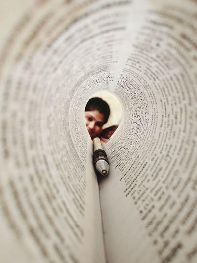 Full frame shot of open book