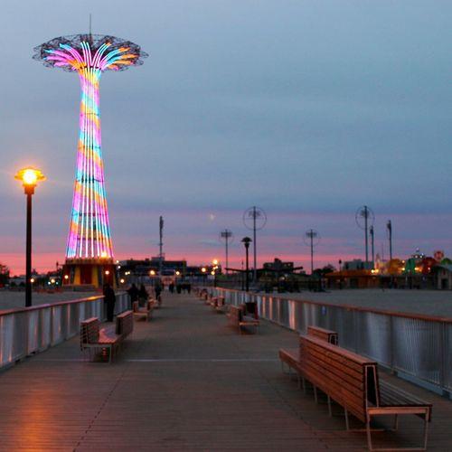 On the Pier, Coney Island Beach & Boardwalk, Brooklyn Coney Island Beach And Boardwalk Brooklyn NYC