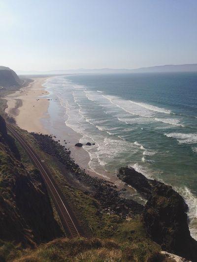 Edge Of The World Northern Ireland Portrush Beach Railway Sea Sun Musuden Temple - Portrush
