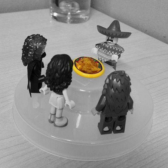 October 6-Pumpkin Spice 5ffphoto Legophotography Black & White Colorsplash