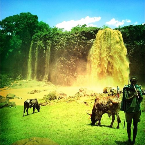 Picoftheday TisAbay Fall Bahirdar Ethiopia Africa Washint View EthiopiaStrong Beautiful SourceNile