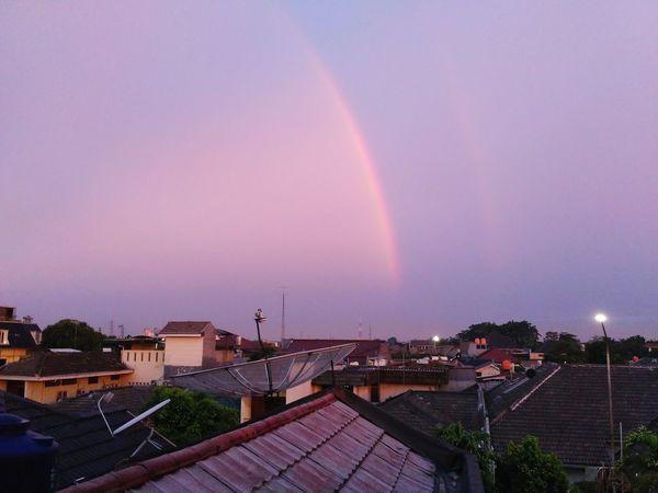 rainbow Rainbow Cloud - Sky High Angle View Cityscape Architecture Outdoors City