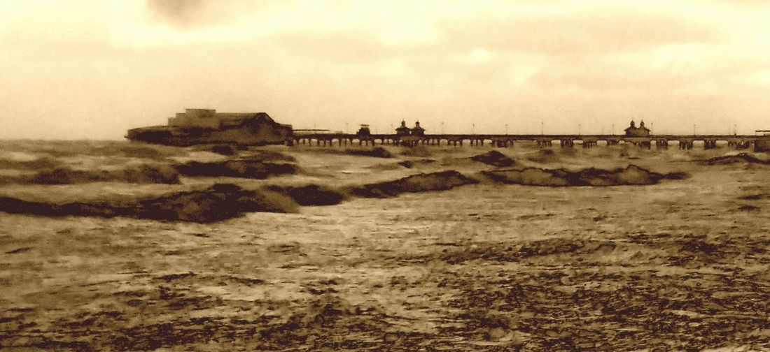 Beach Dangerous Seas Force Of Nature Natural Elements Ocean Old Fashioned Old Fashioned Seascape Pier Power In Nature Power Of Sea Roughsea Sea Sepia Seascape Storm At Sea Tides Water