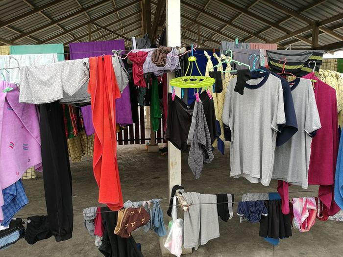 colors Colors No People Day Coathanger Drying Multi Colored Hanging Choice Variation Retail  Textile Clothing Clothesline