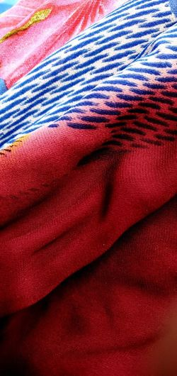 Backgrounds Red Full Frame Textured  Textile Crumpled Pattern Abstract Close-up