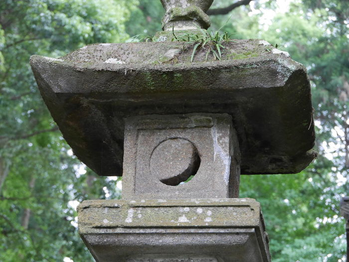 Stone No People Beauty In Nature Japan Japan Photography Japanese Culture Japanese Style Japanese Garden Japanese Temple Moon Crescent Moon Stone Lantern Tree Close-up