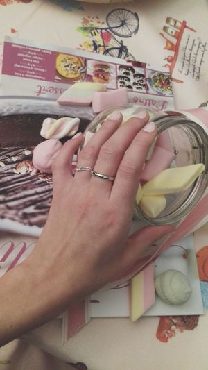 Something Sweet Pastel Colors PINKY Mashmallow Rings Hand Sweet Moments Simplicity Femininity
