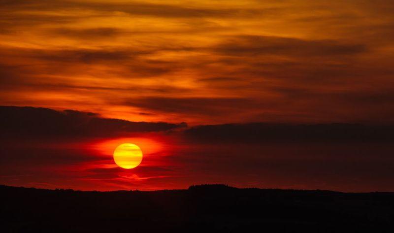 Consett sunset last night Sunset Silhouettes First Eyeem Photo