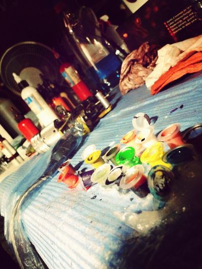 Messy tattoo station = awesome photo Ink Tattoos