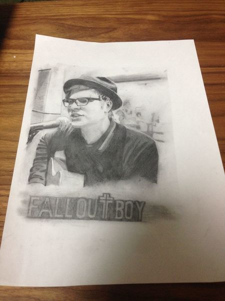 I Drew Patrick Stump from Fall out boy Falloutboy  Band Patrickstump Drawing