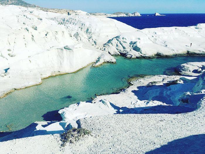 Lunar beach Sarakiniko Beauty In Nature Scenics Greece Greekislands