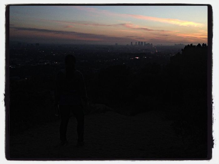 Night hike. Los Angeles, California