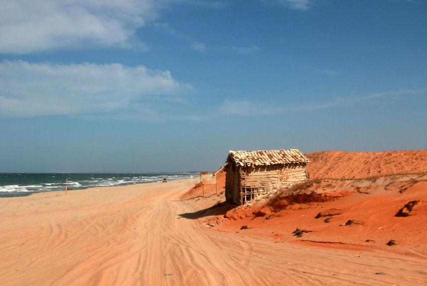 Brasil Brazil Built Structure Ceará Cloud - Sky Jericoacoara Jericoacoara - CE Nature No People Outdoors Red Sand Scenics Sea Sky