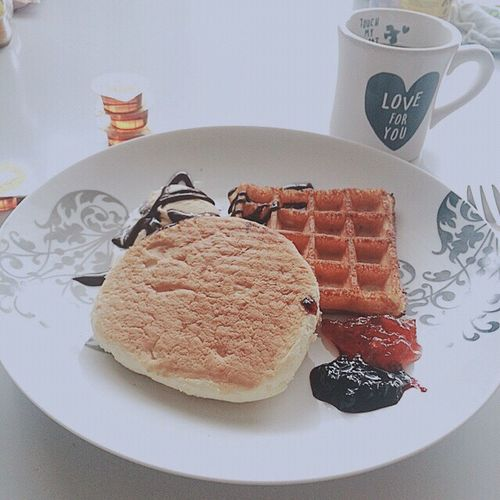 yuuum💫 Food Yummy Waffle Pancakes Ice Cream Chocolate