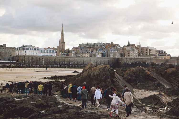France Normandie Travel Adult Ancient Ancient Civilization Architecture Building Exterior Built Structure City Cityscape Cloud - Sky Day History Large Group Of People Leisure Activity Lifestyles Men Nature Normandy Outdoors People Real People Sky Travel Destinations Walking Women