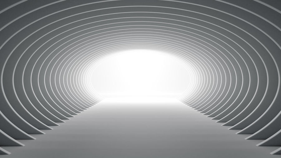 Low angle view of ceiling in tunnel