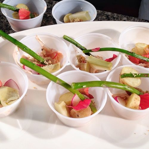 Treats for the audience by Chef Katie Weinner. Food Cookingdemo Cooking Tasteofspring