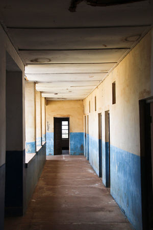 Abandoned Buildings Architecture Built Structure Day Door Floor Hall Indoors  No People Open Door Wall Wall - Building Feature