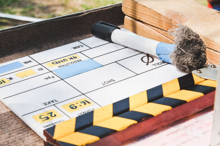 behind the scene,Film Slate on set Behind The Scene Behind The Scenes Behind The Scenes Shot Film Equipment Filming Studio Broadcast Broadcasting Clapper Board Film Slate Filming Location Movie Clapper Board Movie Slate Studio Photography Studio Shot