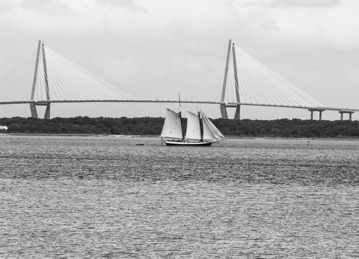 Deceptively Simple Architecture Eye4photography  Blackandwhite Black & White Lines Bridge Boats Black And White Shades Of Grey
