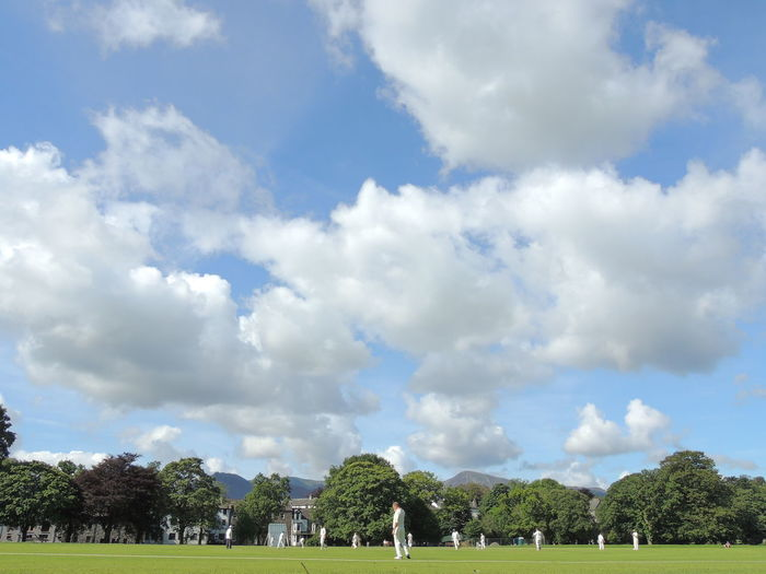 Cricket Field Architecture Beauty In Nature Cloud - Sky Cricket Cricket Match Day Nature No People Outdoors Scenics Sky Tranquility Tree Water