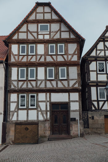 Half-timber House Architecture Building Exterior Built Structure Day Half-timbered House No People Outdoors Residential Building Sky Timber