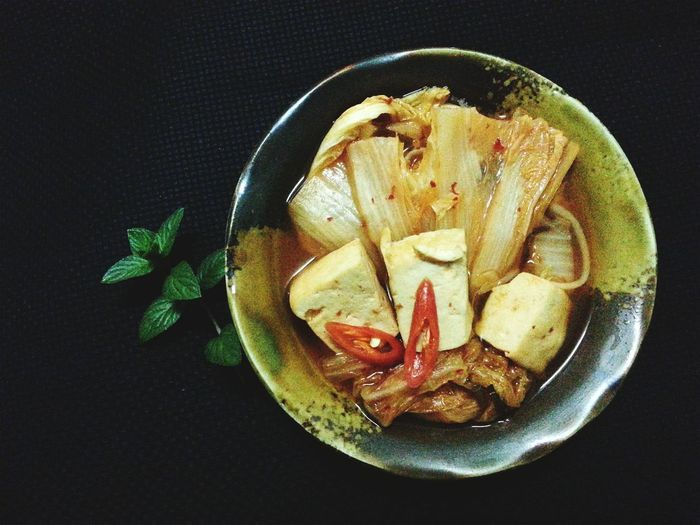 Canh Kimchee tự chế.
