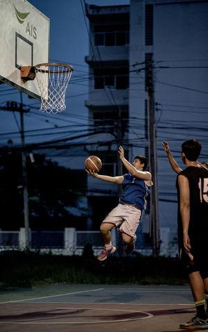 Basketball, Lay up Activity Basketball Flying Game Hoop Jump Lay Up Man Nice Play Player Playing Shoot Sport Teen Teenager Thai Thailand