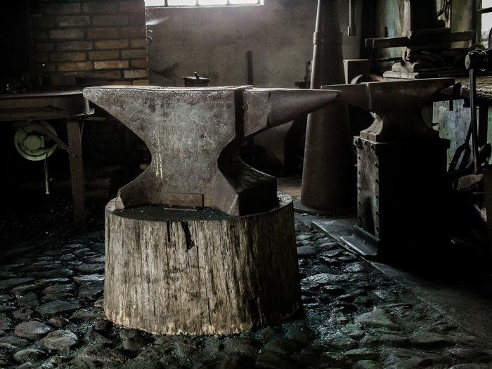 Ambos Detonator Cap Forge  Indoors  Metal Old Smithy Still Life Wood