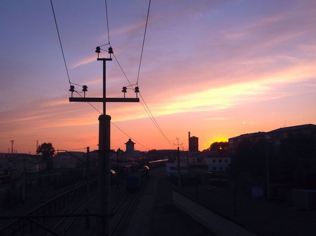 Sunset Train Station Siberia
