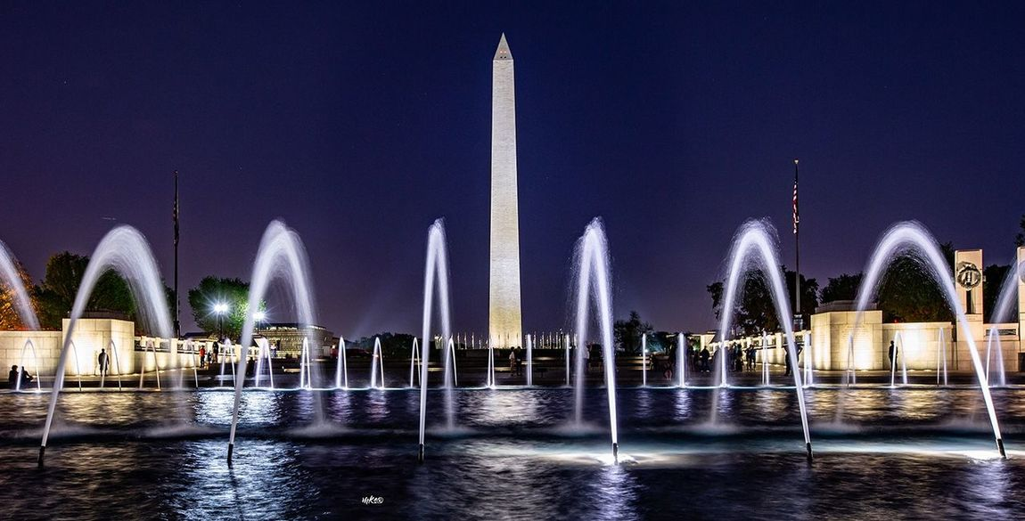 WDC nights Washington, D. C. Night Picture Landscape Travel Destinations Bestoftheday EyeEm Best Shots Photography Beauty In Nature Water Architecture Night Illuminated Built Structure Sky Travel Destinations Fountain Travel Reflection